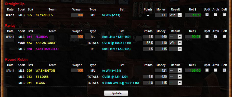 SportsBetTech - How To Use Wager Worksheet